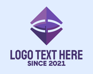 Biometrics - Purple Diamond Eye  logo design