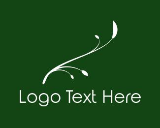 Green And White - White Twig logo design