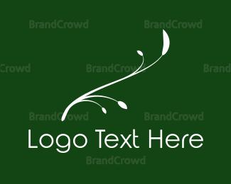 White - White Twig logo design