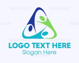 Trio - Triangle Team logo design