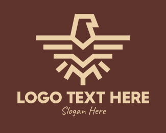 Cave Painting - Brown Tribal Eagle logo design
