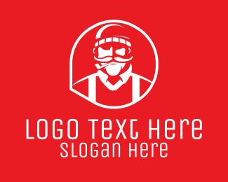 Smoking - Hipster Smoking Guy logo design