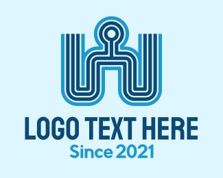 Human - Blue Human Company logo design