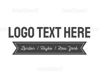 White - Black & White logo design