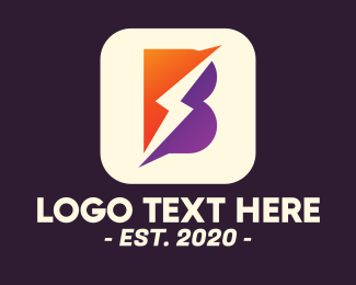 Resources - Lightning Letter B App logo design