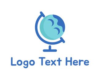 Earth - Happy Planet logo design