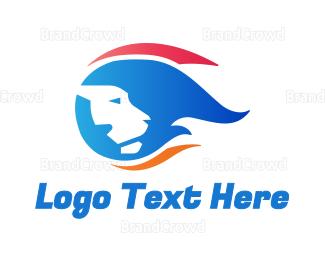 Lioness - Blazing Lion logo design