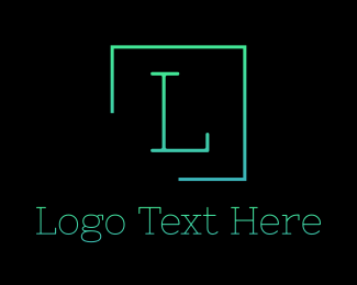 Silicon Alley - Green Serif Letter Square logo design