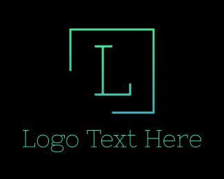 Green Serif Letter Square Logo