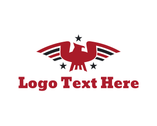Red Bird - Patriotic Bird logo design
