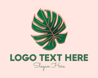 Plant Mom - Monstera Deliciosa Plant Shop logo design