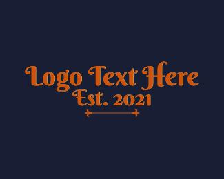 Word - Elegant Vintage Retro Wordmark logo design