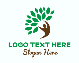 Environmentalist - Nature Spirit Tree logo design