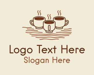 Hot - Hot Coffee Cups logo design