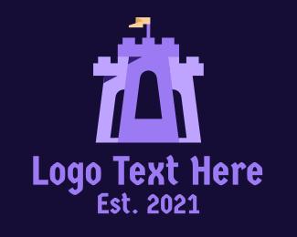 Gaming - Castle Tower Turret logo design