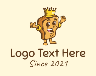Toasted - Toast Bread King  logo design