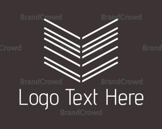 Vertical - Arrow Lines logo design