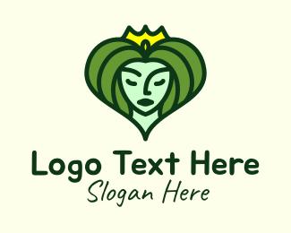 Crown - Nature Princess Goddess logo design