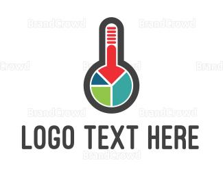 Money - Thermometer Chart logo design