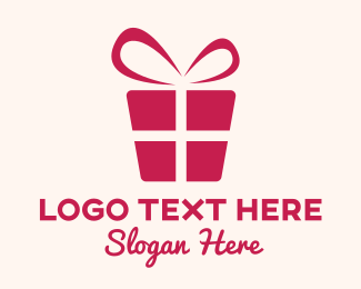 Gift Shop - Red Gift Box logo design