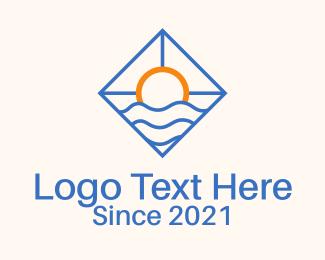 Resort - Sunset Beach Resort logo design