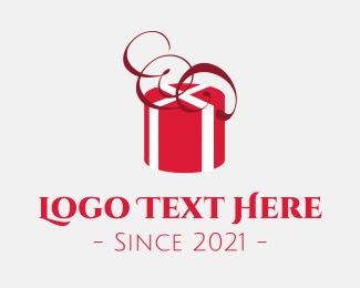 Xmas - Red Present logo design