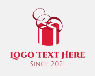 Gift Box - Red Present logo design
