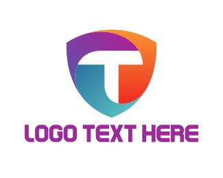 Computing - T Shield logo design