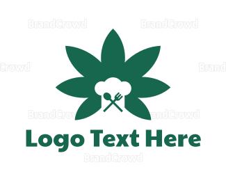 Recipe - Cannabis Recipes logo design