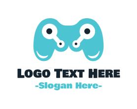Geek - Tech Gaming Controller logo design