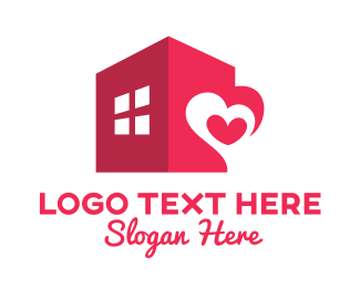 Nursing Home - Modern Love House logo design
