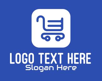 Shopping Delivery - Online Shopping App logo design