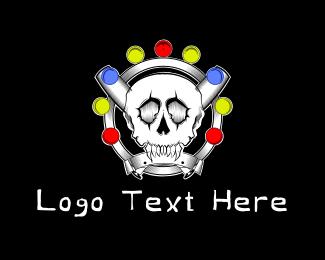 Voodoo - Baseball Skull logo design