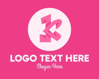 Fashion - Pink Fashion Letter K logo design