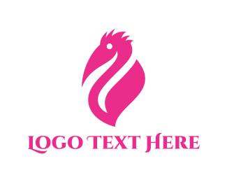 Pelican - Pink Pelican logo design