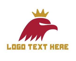 Red Hawk - Red Eagle King logo design