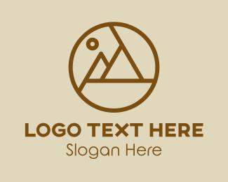 Landscape Photography - Mountain Photography logo design