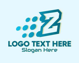 Pixels - Digital Pixels Letter Z logo design