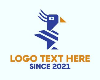 Pet Shop - Blue Macaw logo design