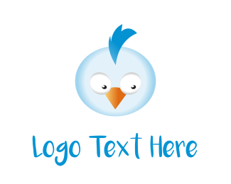 Cartoonish - Blue Chicken logo design