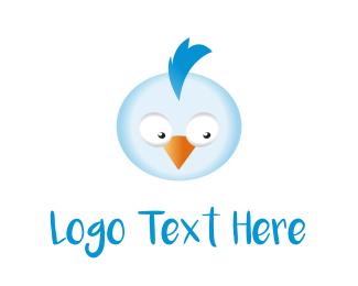 Little - Blue Chicken logo design