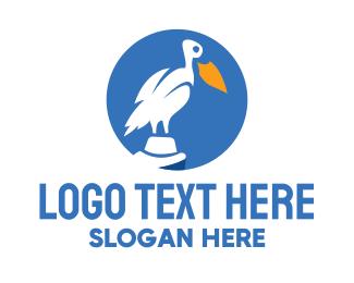 Toucan - Pelican Circle  logo design