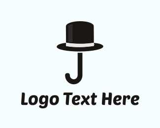 Top Hat - Cane & Hat logo design