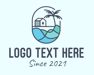 Tsunami - Beach house Emblem logo design
