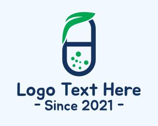 Medicinal - Herbal Medicine Pill logo design