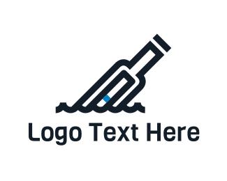 Message - Bottle Message logo design
