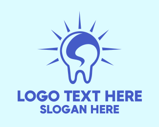Orthodontic - Bright Blue Tooth logo design