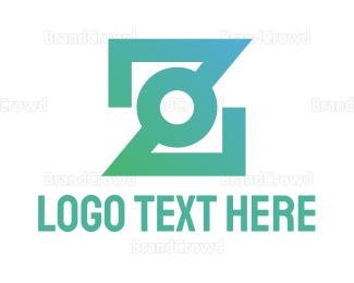 Company - Gradient Dot Z logo design