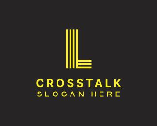 Random Futuristic Yellow Letter C logo design