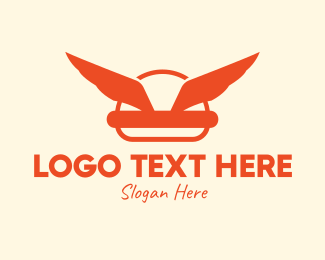 Burger Delivery - Burger Wings Place logo design